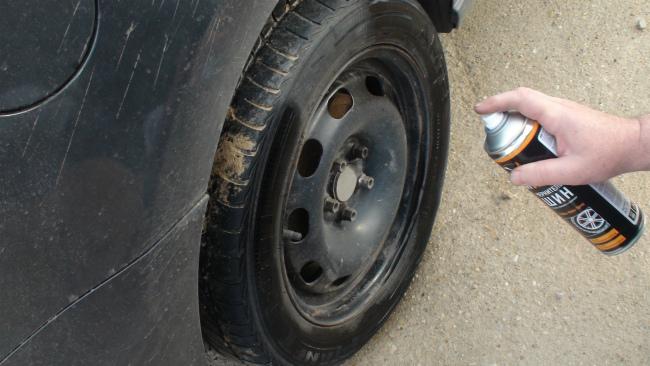 Обработка колеса средством