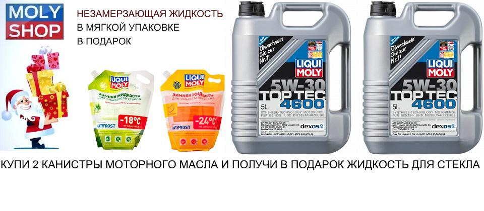 Акция Купи 2 канистры моторного масла и получи незамерзайку в мягкой упаковке в подарок