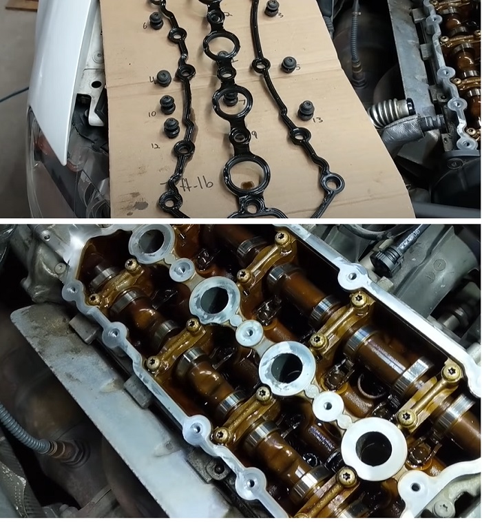 Двигатель Ауди до промывки