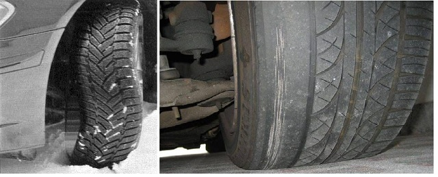 Прокол колеса на дороге