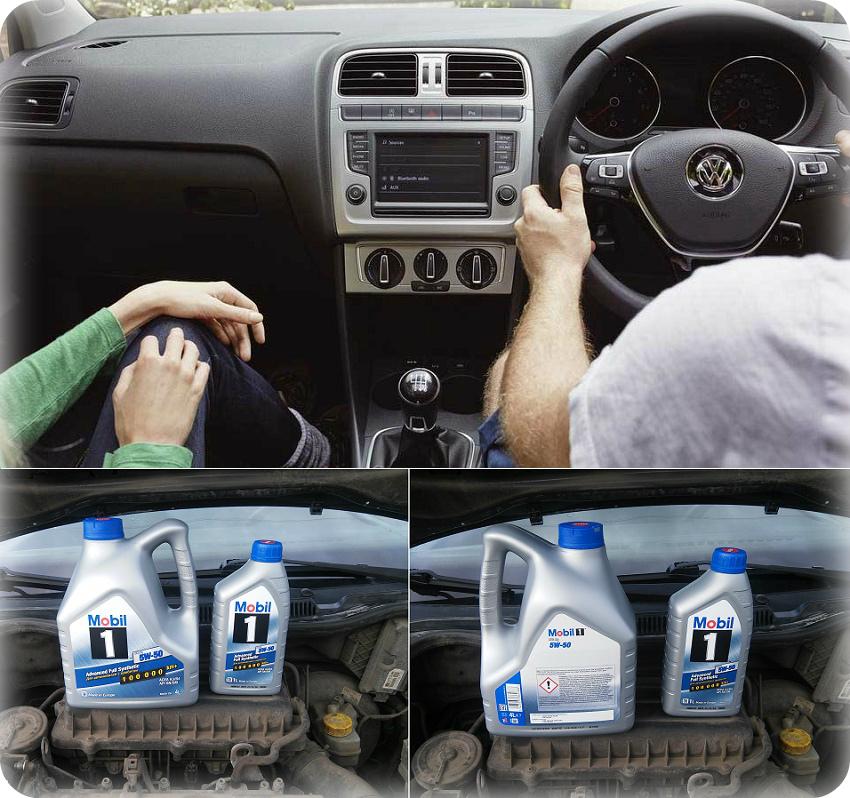 VW Polo и моторное масло мобил 5W50 в двигатель