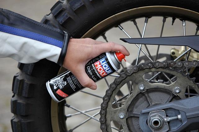 Обслуживание цепи мотоцикла