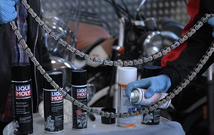 Обработка цепи мотоцикла