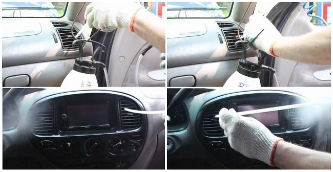 Очитска воздуховодов автомобиля