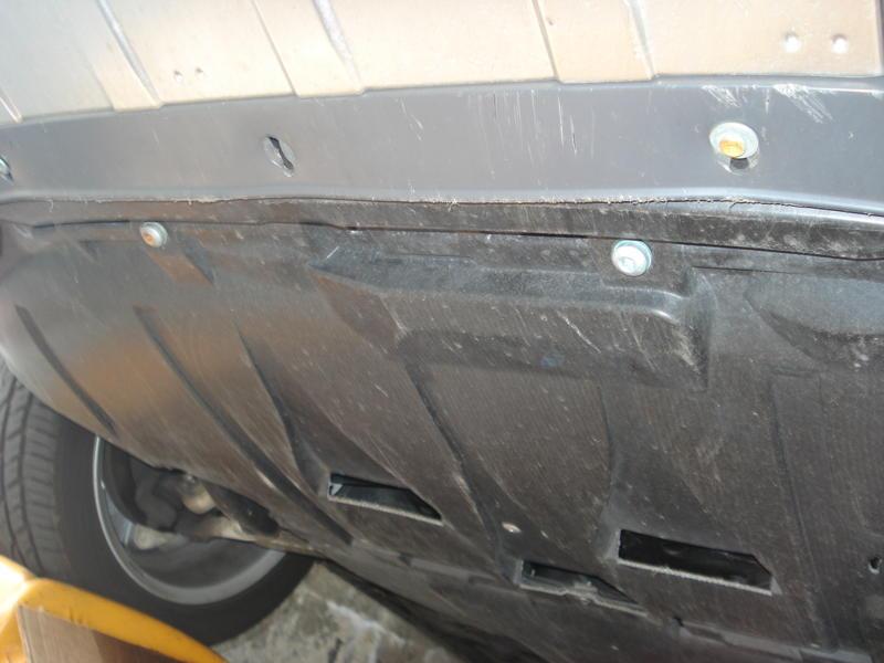 Для замены масла нужно удалить защиту двигателя