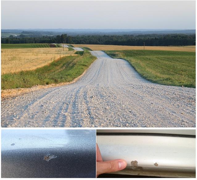 Последствия езды по гравийной дороге на автомобиле