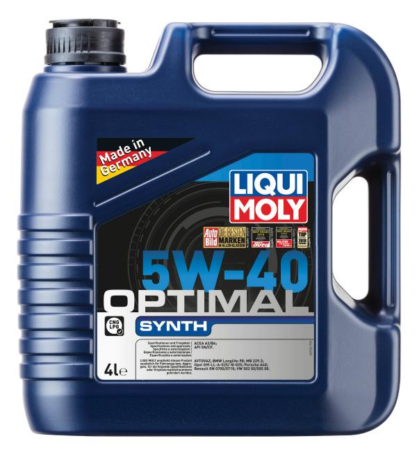 Liqui Moly Optimal 5W40 синтетическое моторное масло