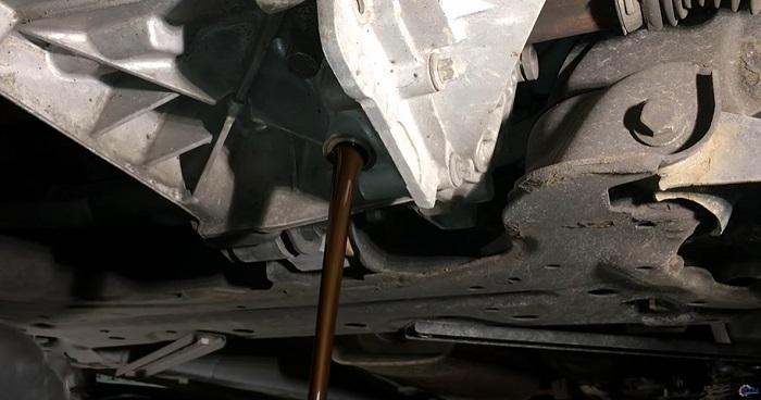 Слив жидкости из АКПП Форда