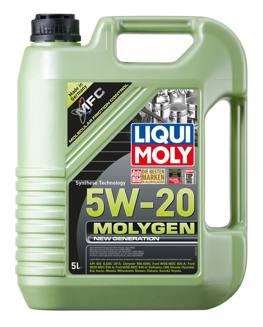Новое масло 2017 Молиген 5w20
