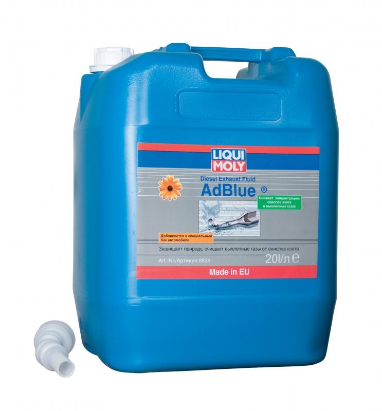 Жидкость AdBlue для использования в системах снижения токсичности SCA