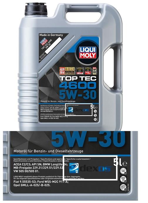 Liqui Moly Top Tec 4600 5W30 синтетическое масло для Шевролет