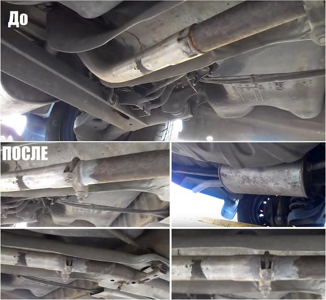 Пасты герметики для ремонта выхлопа при разгерметизации выпускной системы