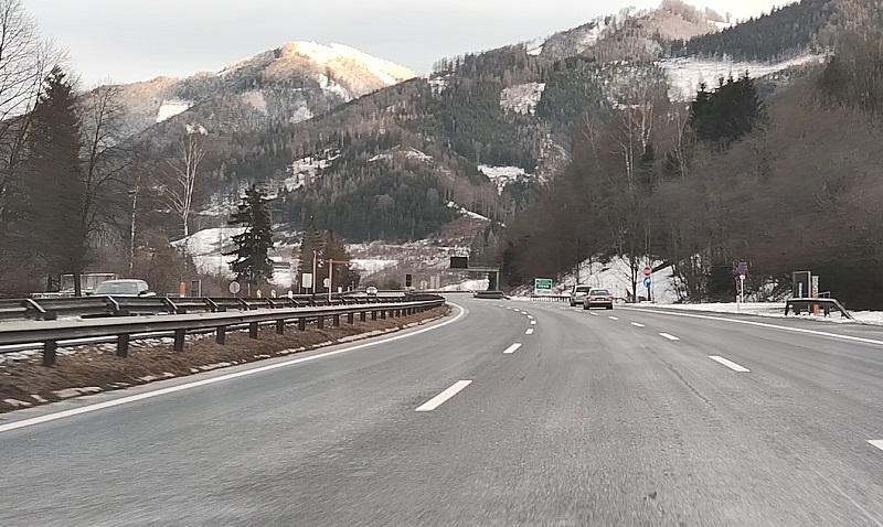 Горы в Австрии Поездка на автомобиле