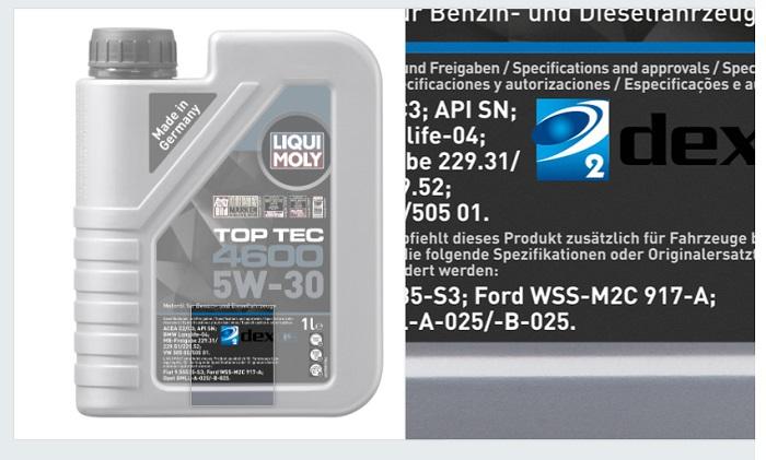 Liqui Moly Top Tec 4600 5W30 Синтетическое моторное масло для MB