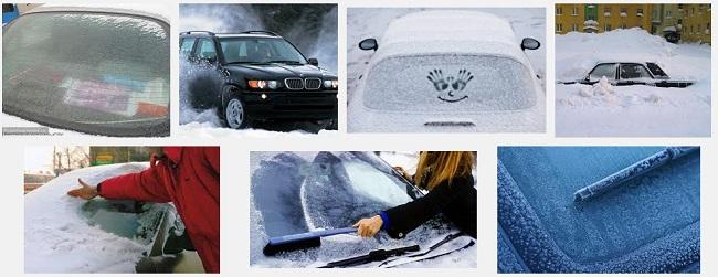 Следите за стеклами автомобиля в зиму