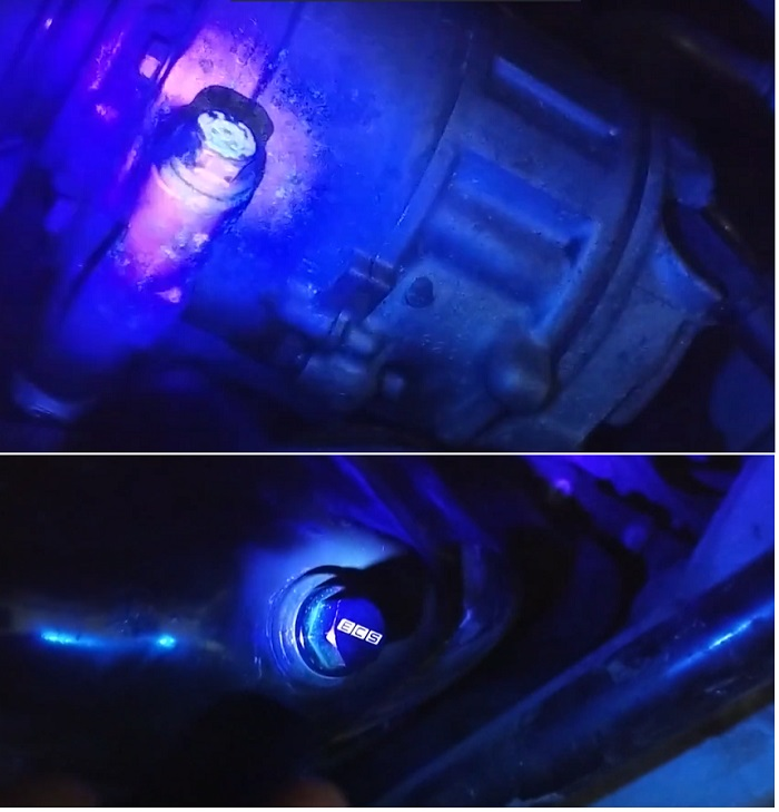 Проверка на течь ультрафиолетом