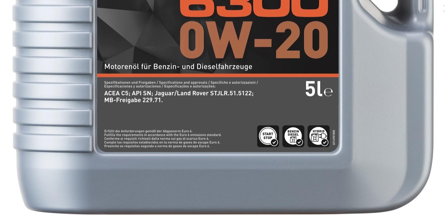 Liqui Moly Top Tec 6300 0W20 Синтетическое моторное масло