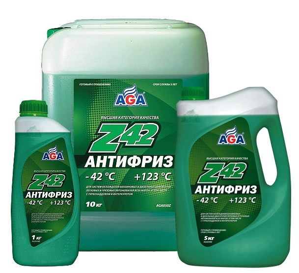 Aga-z42 -Антифриз зеленый