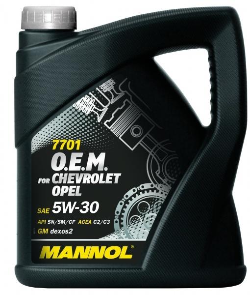 Mannol 7701 O.E.M. 5W-30 API SN/SM/CF- Синтетическое моторное масло для OPEL, CHEVROLET, DAEWOO, GM, SAAB