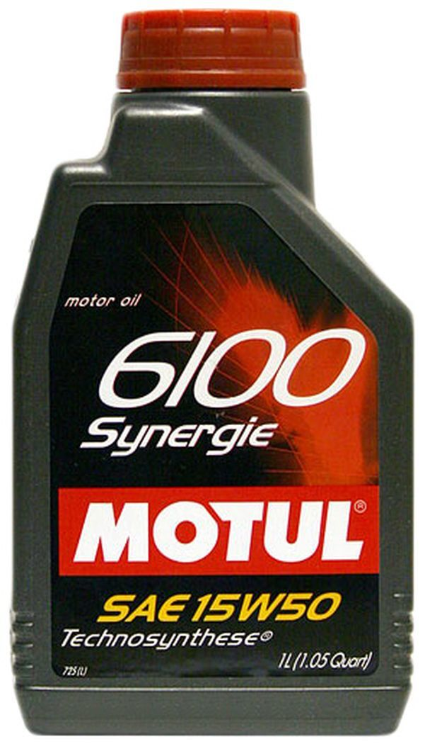 Motul 6100 Synergie 15W50 Полусинтетическое моторное масло