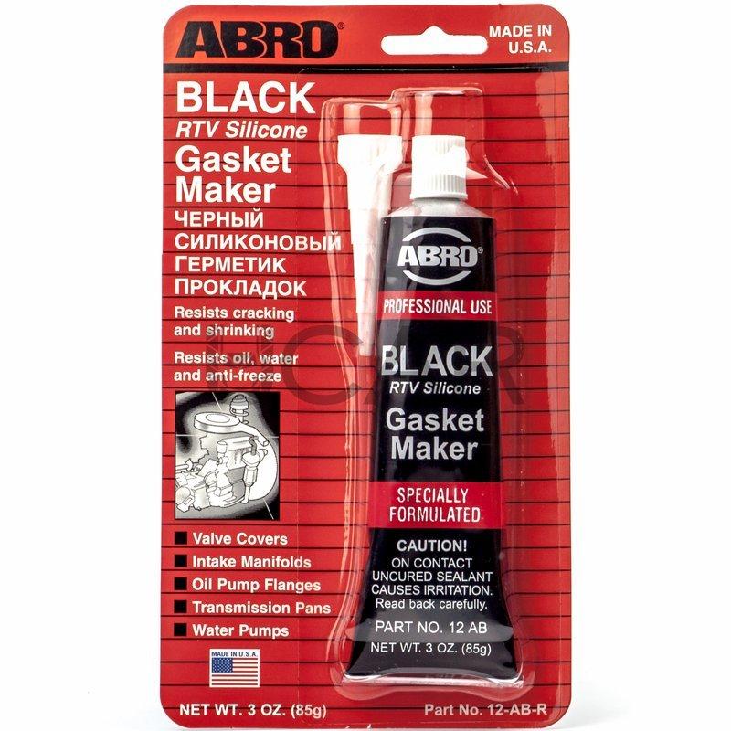 ABRO Black Gasket Maker (85г)-  Герметик силиконовый (черный)