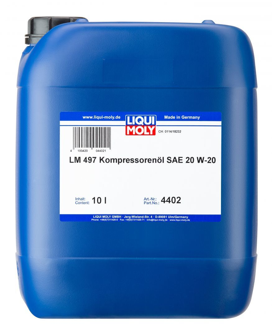 Liqui Moly LM 497 Kompressorenoil 20W20 Синтетическое компрессорное масло