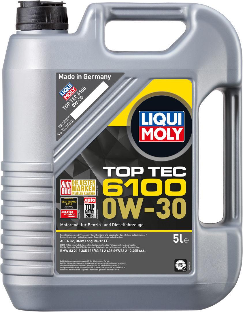 Liqui Moly Top Tec 6100 0W30 НС-синтетическое моторное масло (20779)