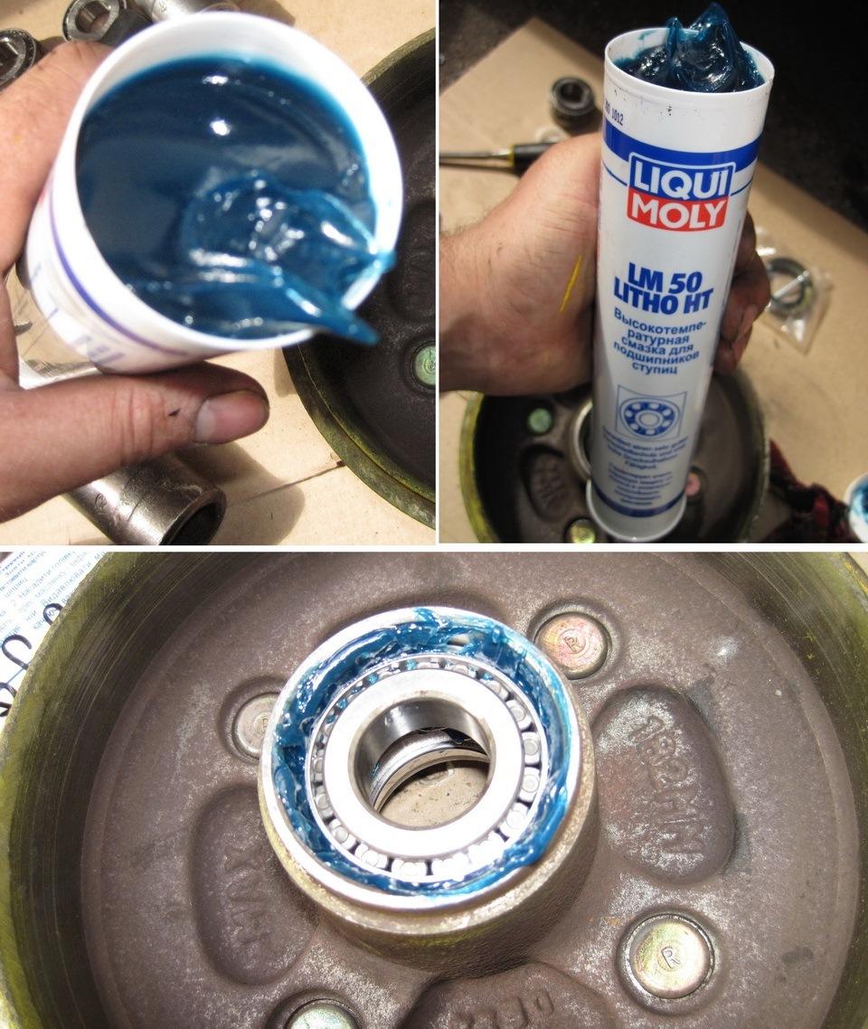 LM 50 Litho HT  Высокотемпературная смазка для ступиц подшипников (Темно синяя)