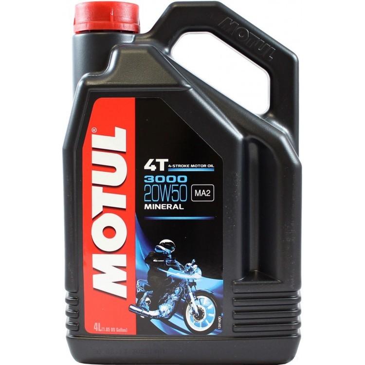 Motul 3000 4T 20W50 Минеральное моторное масло для четырехтактных мотоциклов