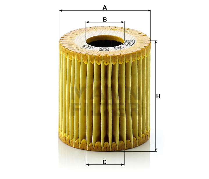 Фильтр масляный MANN HU 68 X