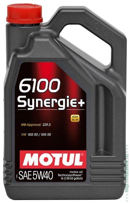 Motul 6100 Synergie+ 5W-40 - Полусинтетическое моторное масло