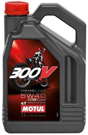 Motul 300V Factory Line Off Road 5W40 Синтетическое мотоциклетное масло для 4Т двигателей