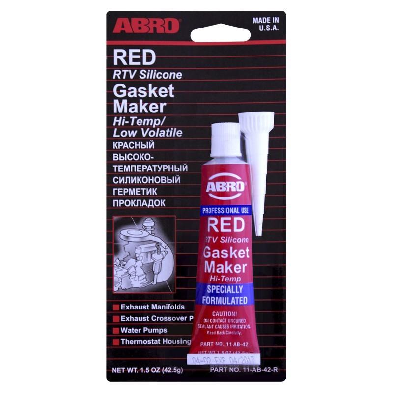 ABRO RED Gasket Maker(42,5г) -  Герметик силиконовый (красный)