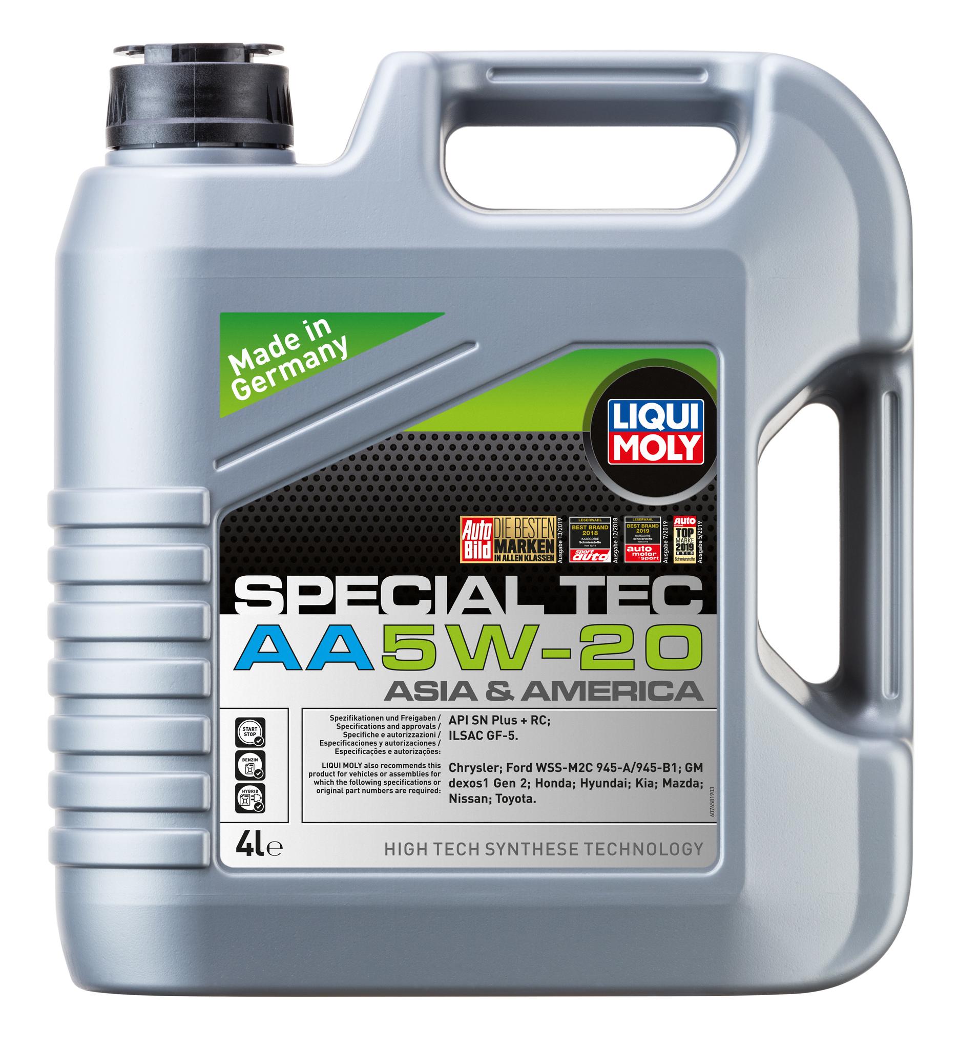 Liqui Moly Special Tec AA (Leichtlauf Special AA) 5W20  НС синтетическое моторное масло