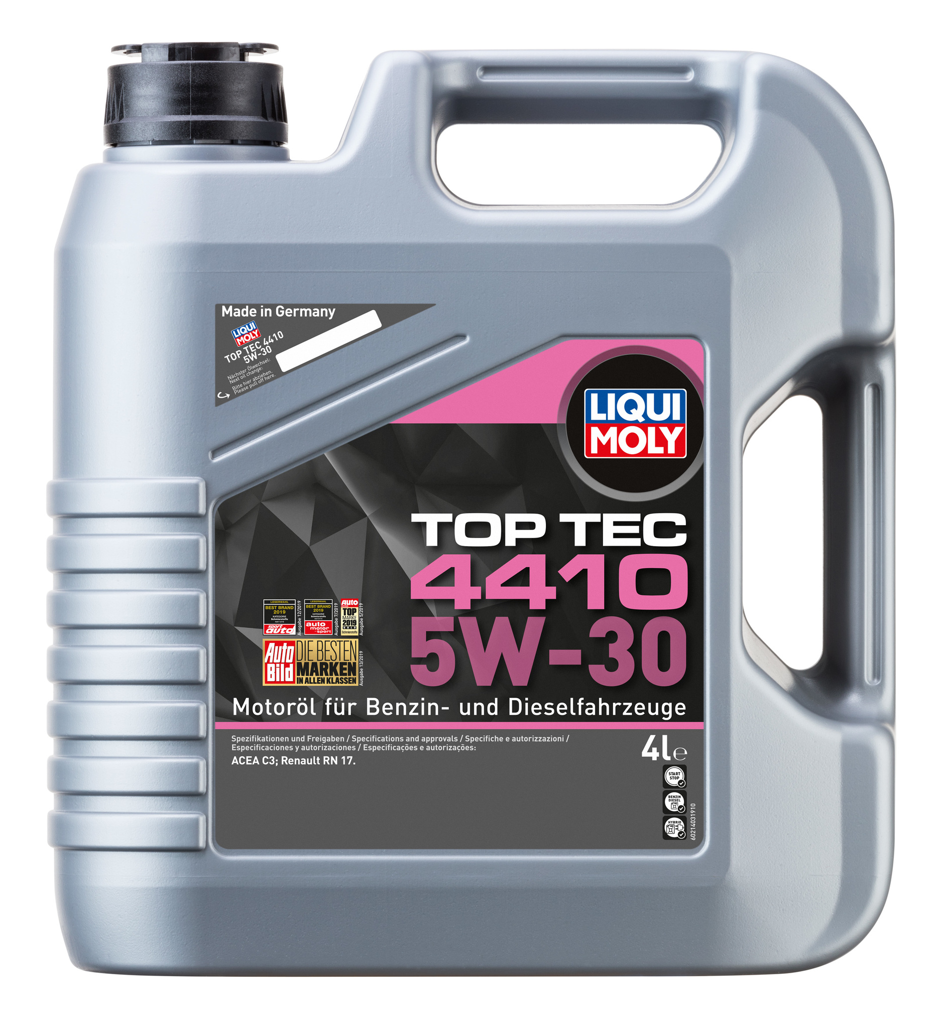 Liqui Moly Top Tec 4410 5W30  НС-синтетическое моторное масло для Рено