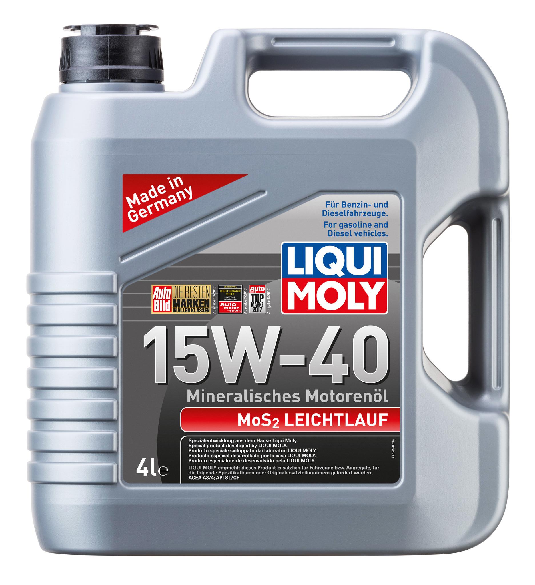 Liqui Moly MoS2 Leichtlauf 15W40 Минеральное моторное масло с дисульфид молибденом
