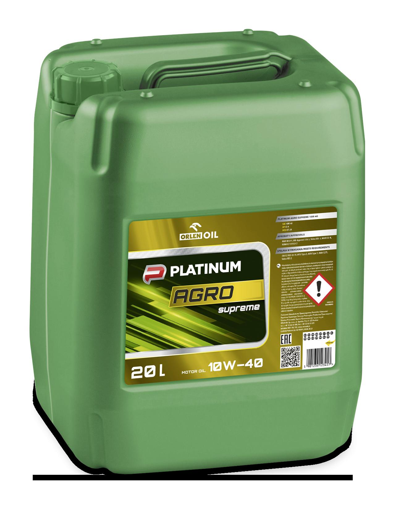 OrlenOil Platinum Agro Supreme 10W40 Моторное масло для дизельной сельхозтехники