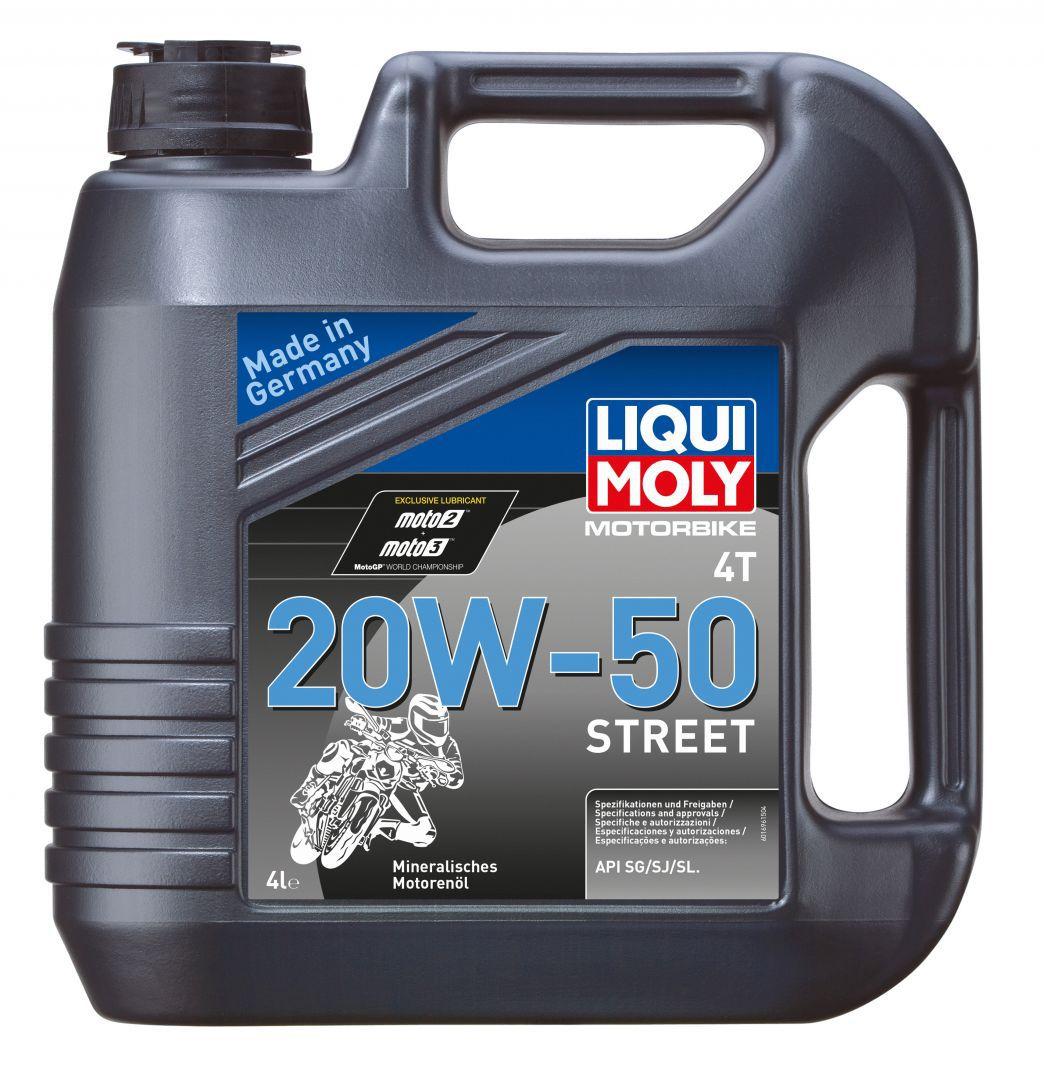 Liqui Moly Motorbike 4T Street 20W50  Минеральное моторное масло для 4-тактных мотоциклов