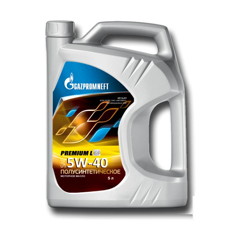 Gazpromneft Premium L 5W40 Полусинтетическое моторное масло