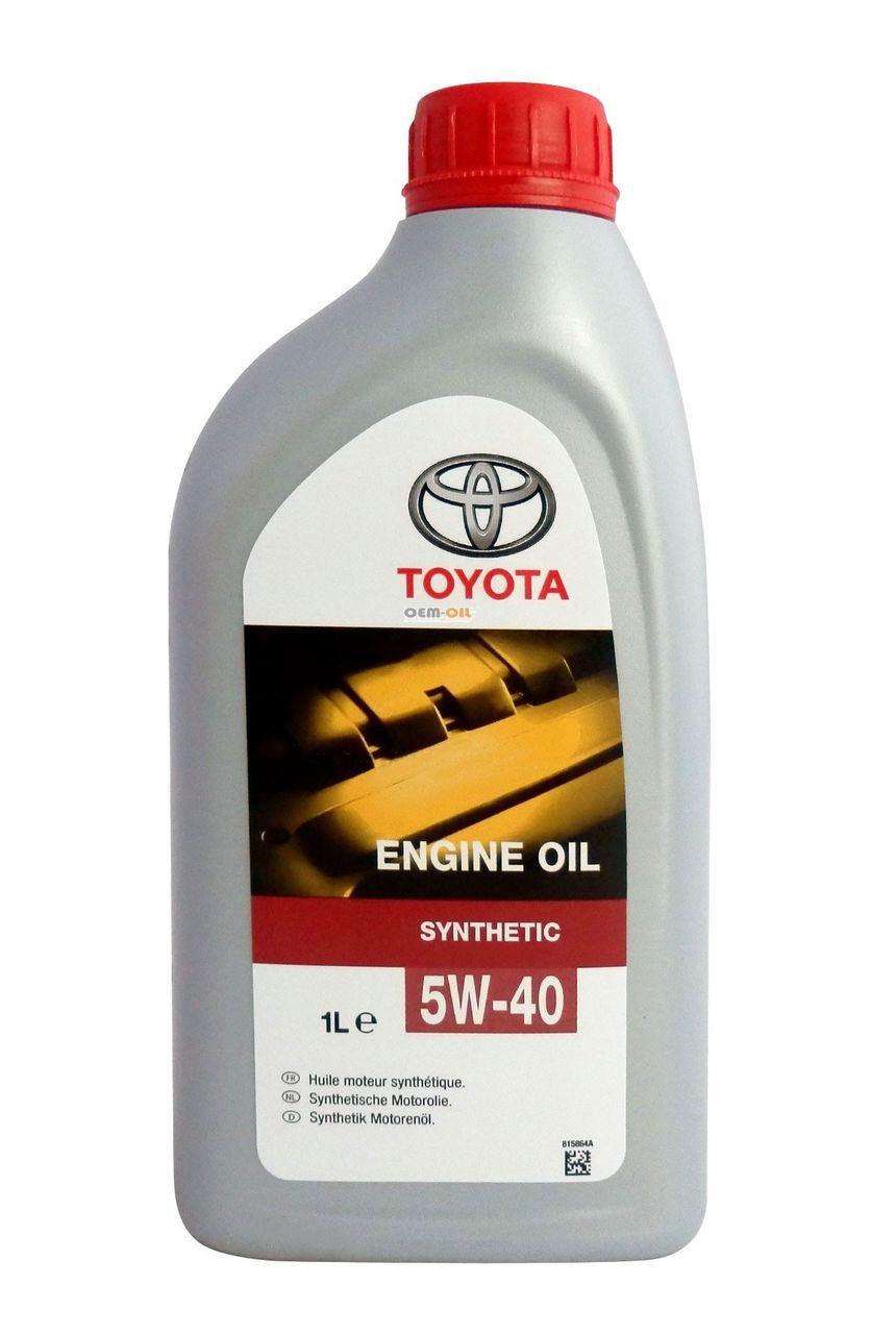 Toyota Engine Oil 5W40 Синтетическое моторное масло