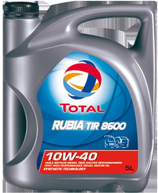 Total 8600 Rubia TIR 10W40 Синтетическое моторное масло для грузовых автомобилей (5л)