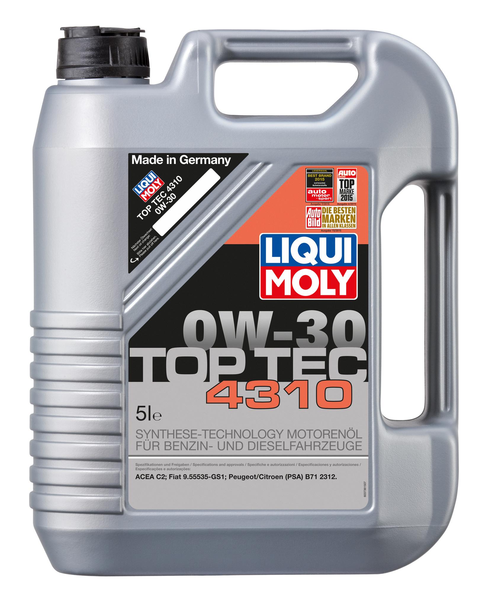 Liqui Moly Top Tec 4310 0W30 Синтетическое моторное масло (2362)
