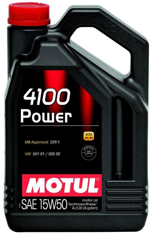 Motul 4100 Power 15W50 Technosynt Полусинтетическое моторное масло