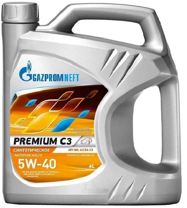 Gazpromneft (Газпром) Premium С3 5W40 Синтетическое моторное масло