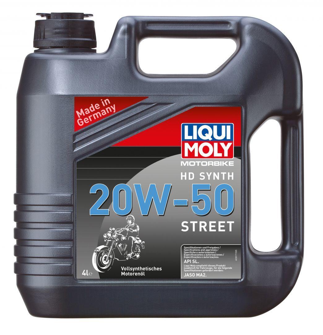 Liqui Moly Motorbike HD Synth Street 20W-50 - Синтетическое моторное масло для 4-тактных мотоциклов