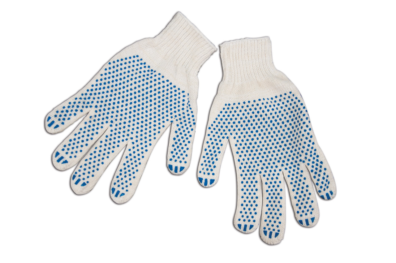 Перчатки хлопчато-бумажные (3+1 нити)