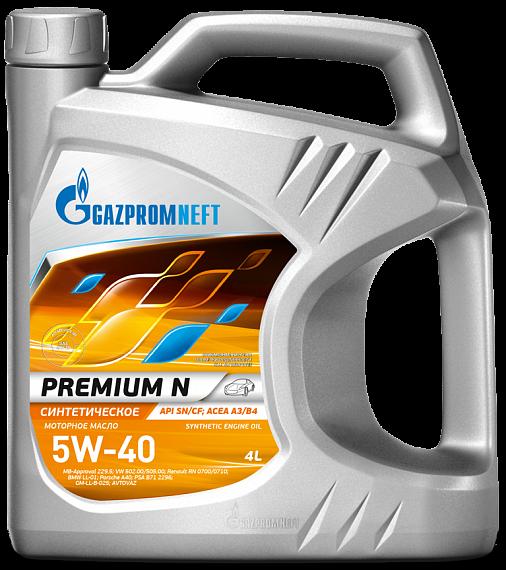 Gazpromneft Premium N 5W40 Синтетическое моторное масло