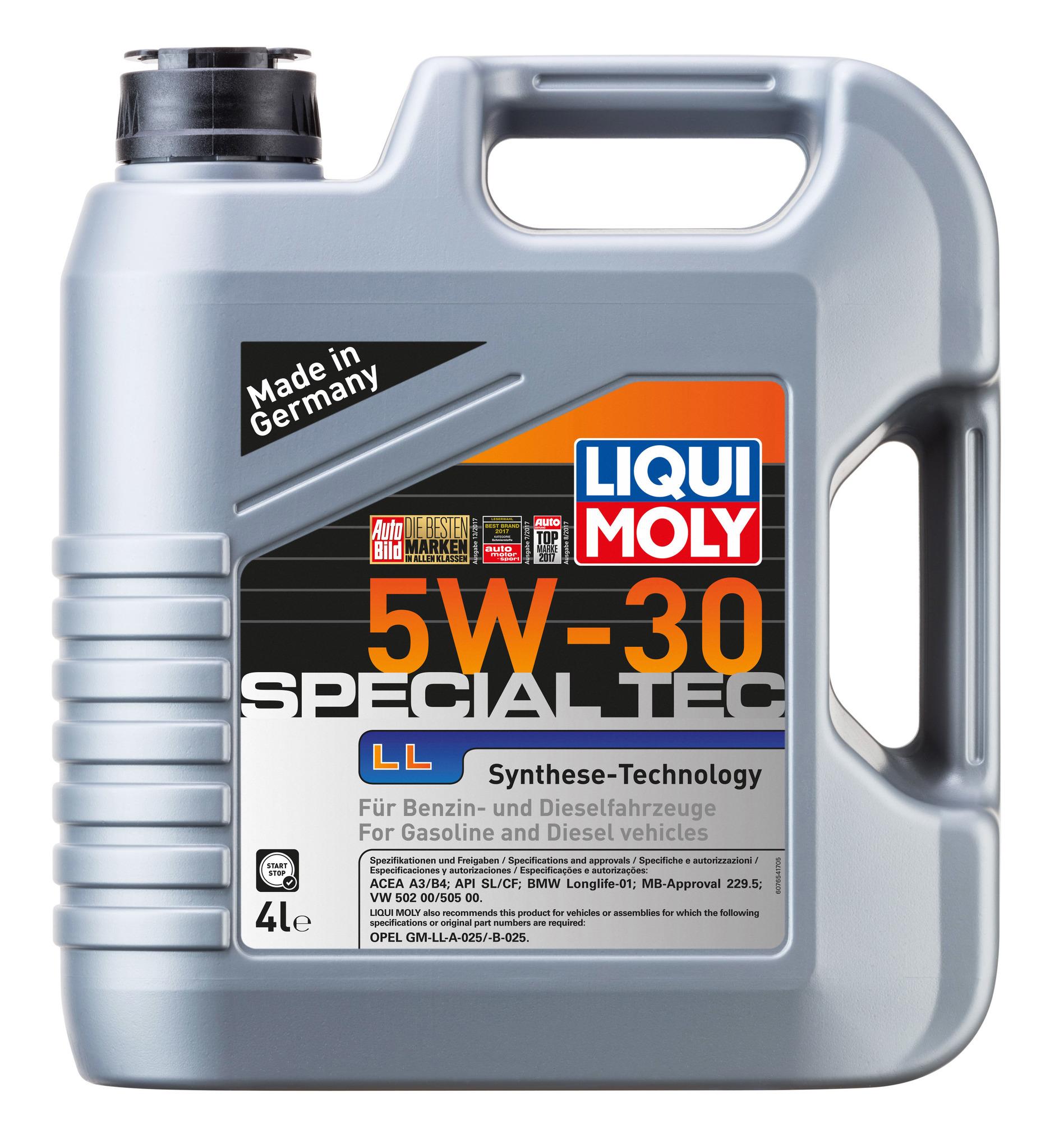 Liqui Moly Special Tec LL 5W30 НС синтетическое моторное масло (7654)