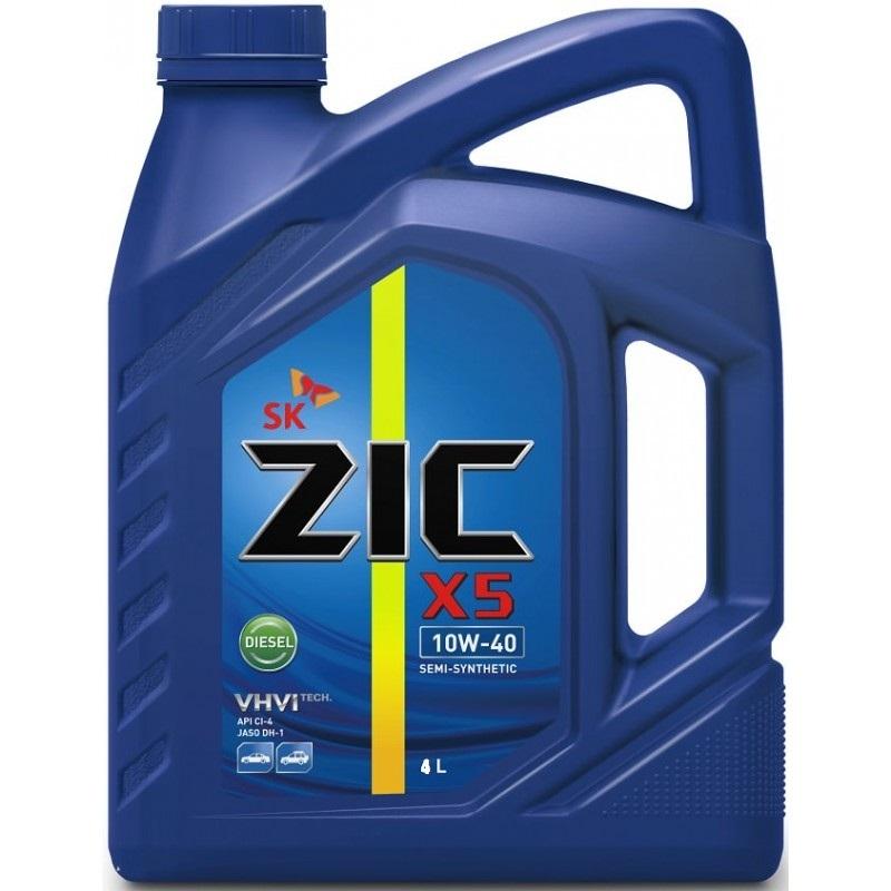 Zic X5 Diesel 10W-40 - Полусинтетическое моторное масло для дизельных автомобилей