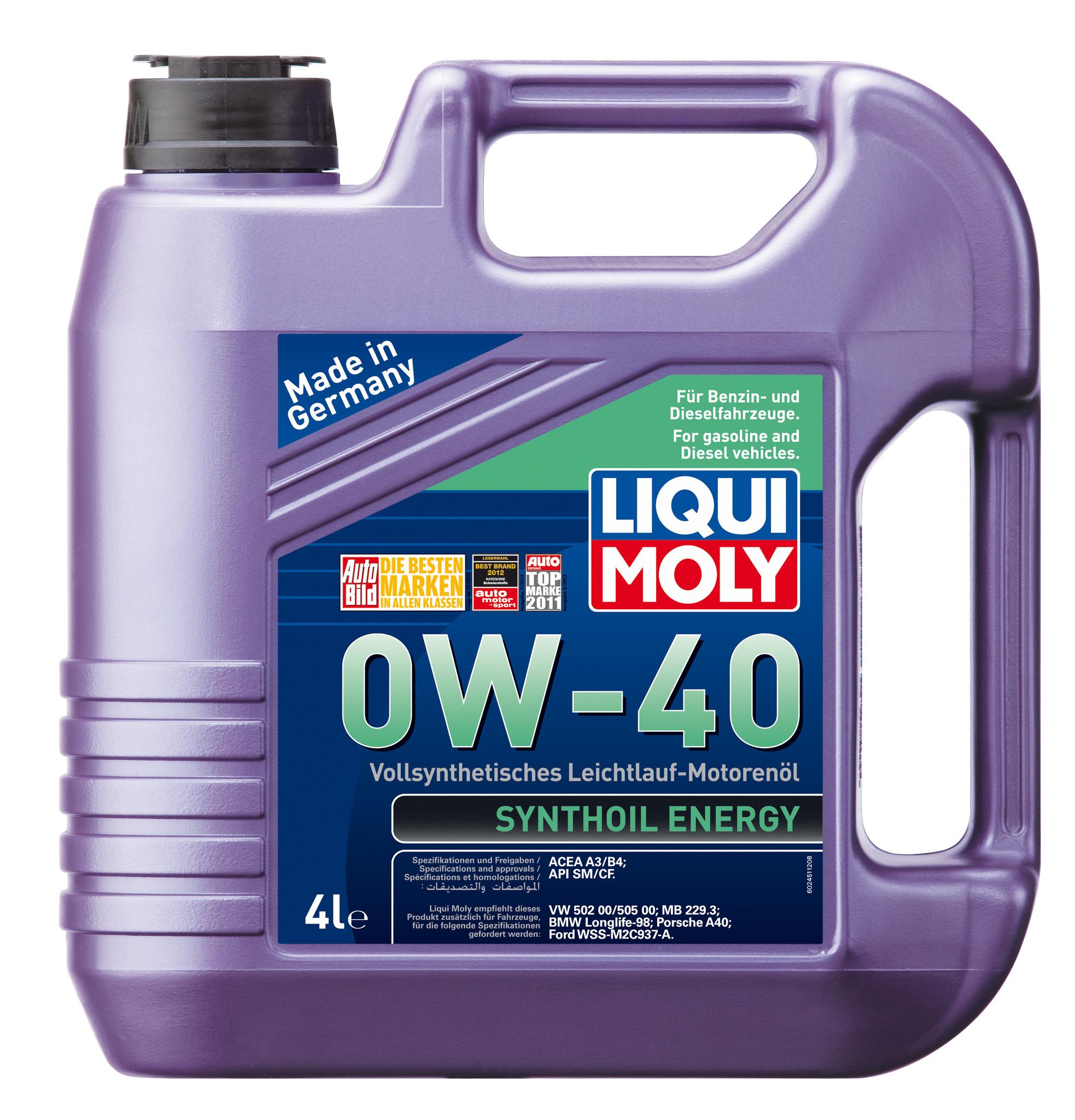 Liqui Moly Synthoil Energy 0W40 Синтетическое моторное масло (7536)